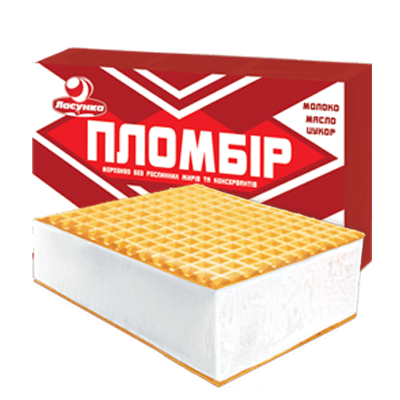 Premium ice cream briquette
